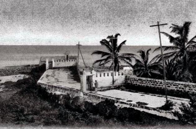 1918: El Espigón del Baluarte de Santa Catalina.