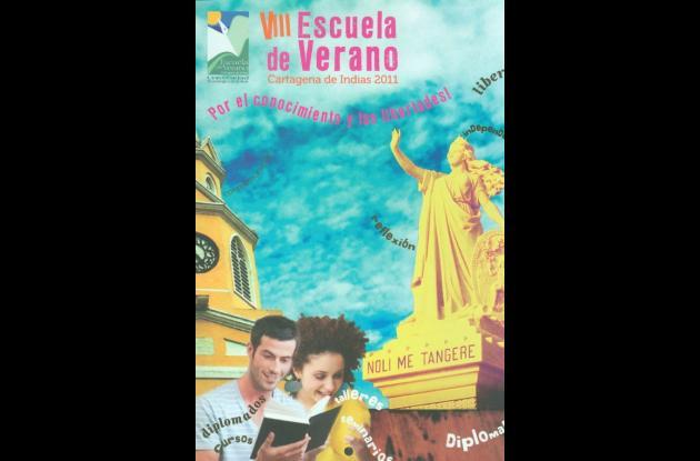 Afiche de promoción de la Escuela de Verano 2011.