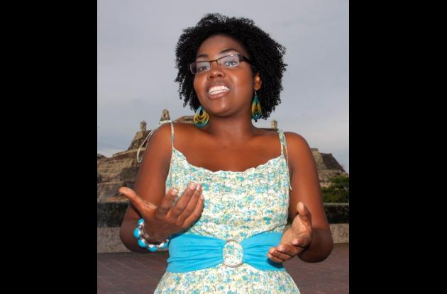 La joven escritora cartagenera Marleys Meléndez Moré