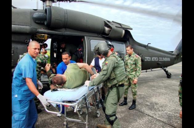 Soldados heridos por las Farc en el Meta