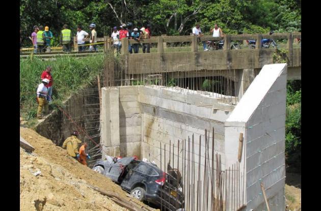Accidente de tránsito entre Turbaco y Arjona.