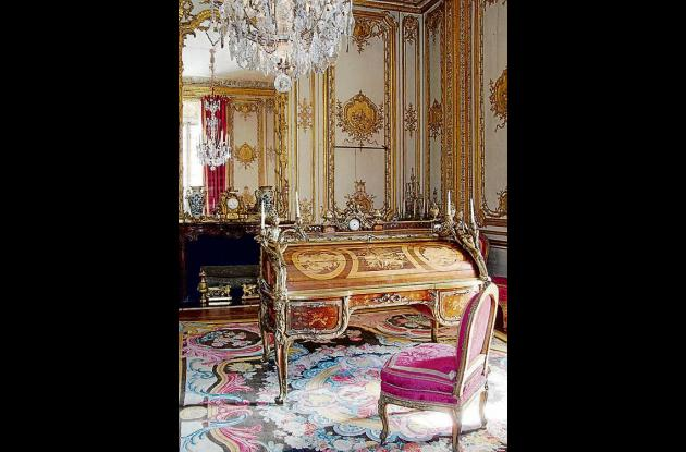 escritorio que perteneció al rey luis XV.