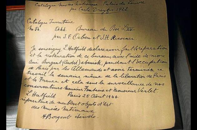 carta escrita hace 67 años.