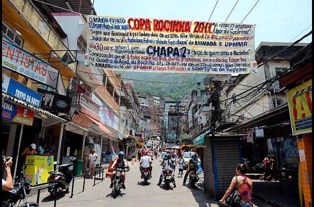 Favela Rocinha en Brasil
