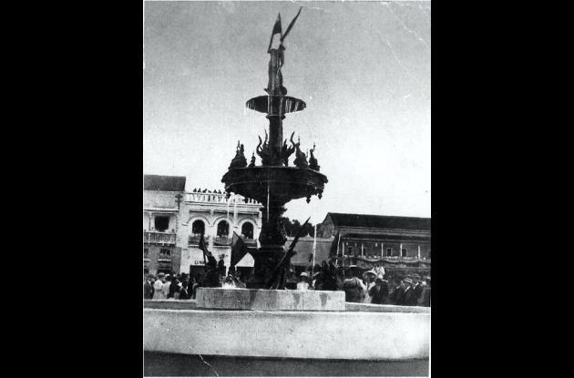 1912. Fuente siria en el Parque del Centenario.