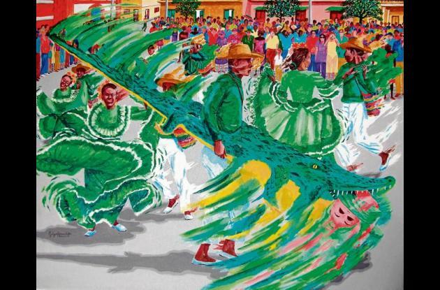 """""""Caimán cienaguero"""" (2011). 96x76 cms."""