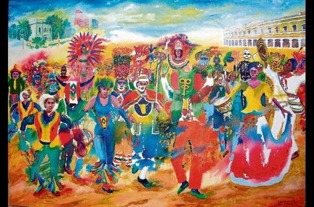 """""""Carnaval de Barranquilla"""" (2008). 100x70 cms."""