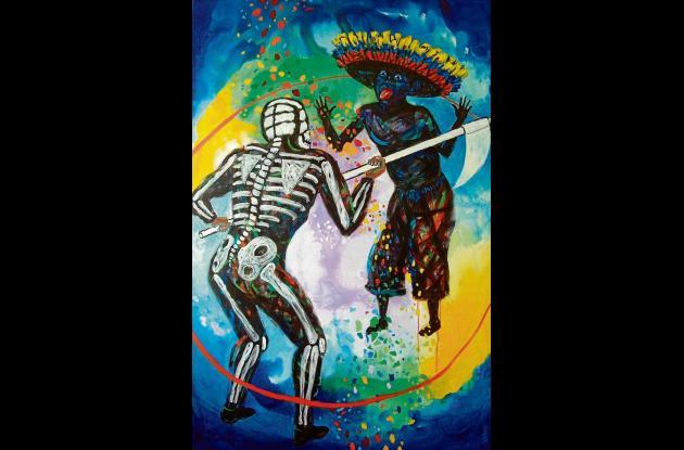 """""""Colombia desafiando la muerte""""(2008). 100x150 cms."""
