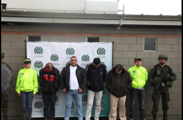 captura de sindicados de narcotráfico