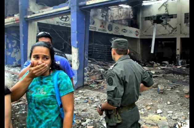 Personas afectadas con atentado de las Farc
