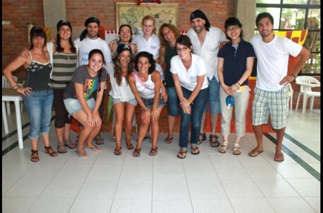Jóvenes voluntarios de España