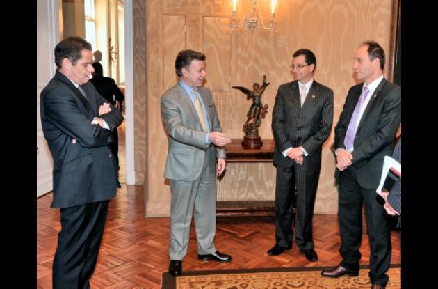 Presidente Santos, ministro Vargas Lleras