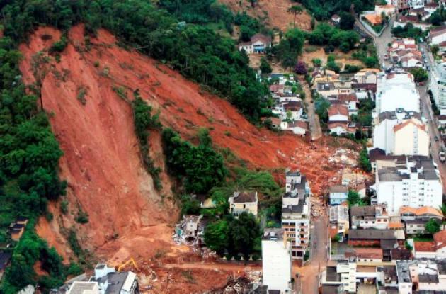Deslizamientos en Brasil