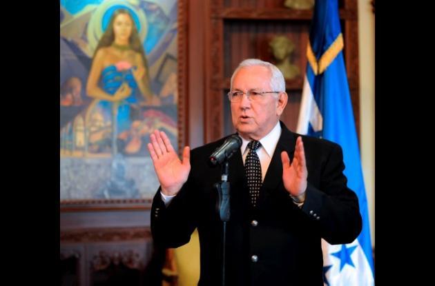 Roberto Micheletti, presidente de facto de Honduras