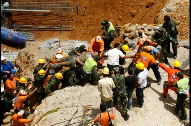Alud en construcción de edificio en Bucaramanga dejó cinco muertos