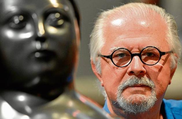 El escultor colombiano Fernando Botero, de 80 años.