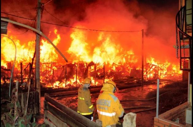 Incendio en Popayán