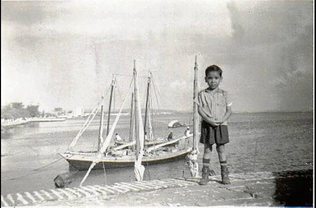 César González en el Club de Pesca.