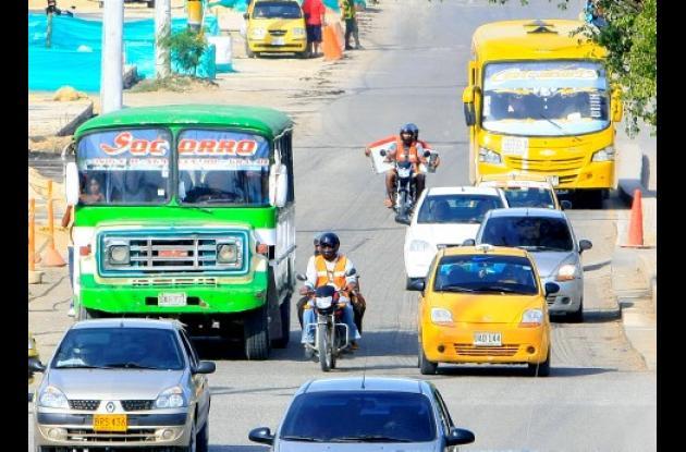 Durante los últimos cuatro años la velocidad promedio de buses y busetas se ha mantenido en 16 kilómetros por hora.