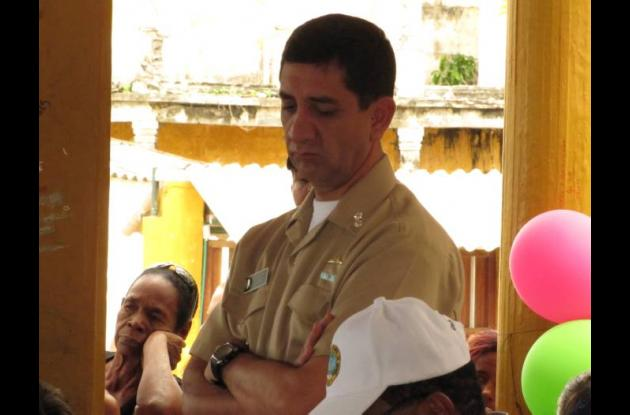 Jairo Falla Perdomo, contraalmirante de la Armada Nacional.