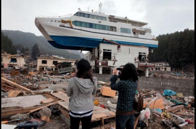 Destrucción por el terremoto en Japón