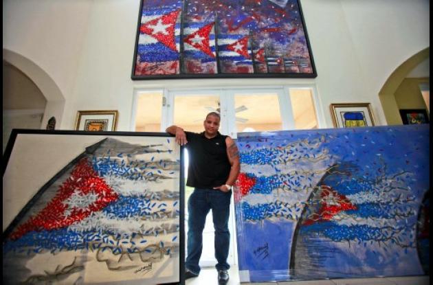 El artista cubano Michel Mirabal.