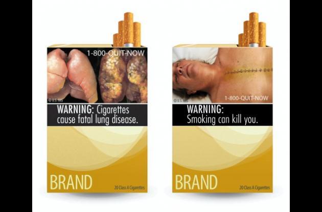 Cajetillas de cigarrillo para evitar de fumar