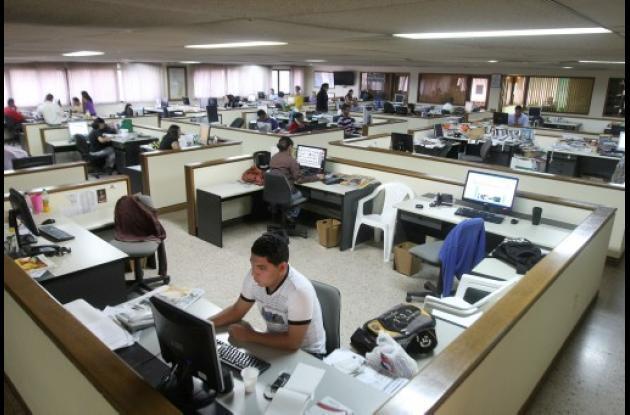 La sala de redacción de El Universal, en 2011.