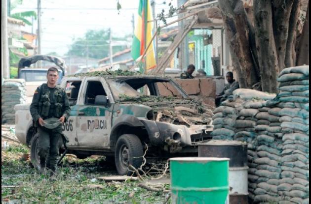 Patrulla de policía atacada por emboscada de las Farc