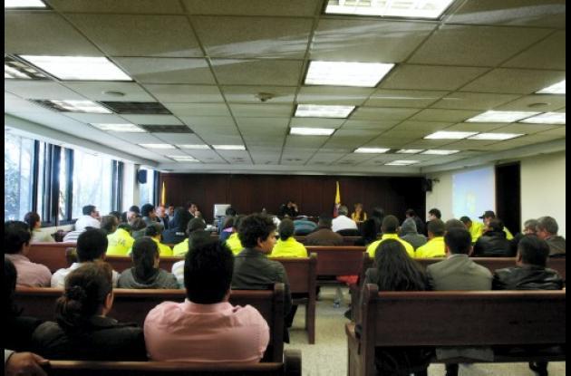 Audiencia imputación de cargos a 13 personas por escándalo de la Dian.