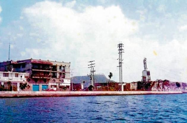 Amanecer en la Bahía de Cartagena.