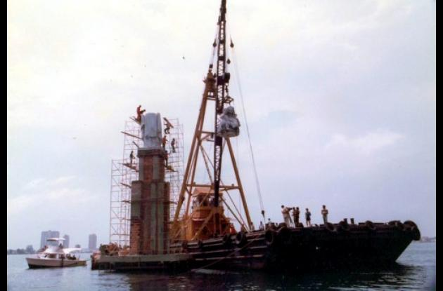 Ubicación final del monumento en 1983.