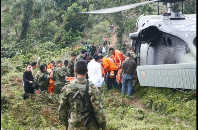 Helicóptero accidentado