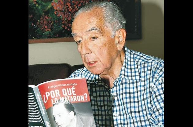 El senador Enrique Gómez, autor del libro sobre el magnicidio de Álvaro Gómez