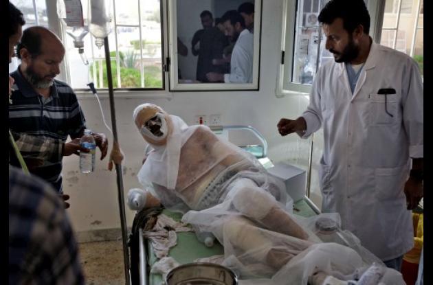 Herido por los combates en Libia