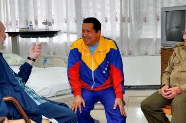 Fidel Castro, Hugo Chávez y Raúl Castro