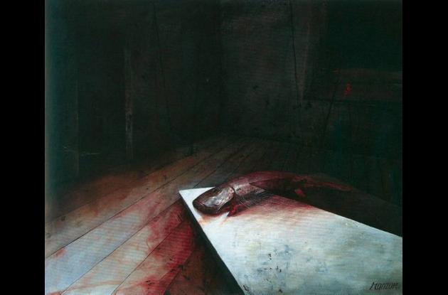 """""""Sin título"""" (2007), de David Manzur. 130x110. Mixta sobre lienzo."""