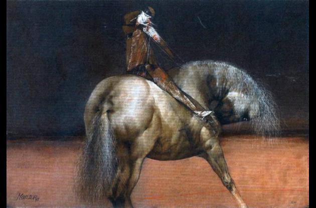 """""""La ciudad oxidada"""" (2006). 130x160. Mixta sobre lienzo."""