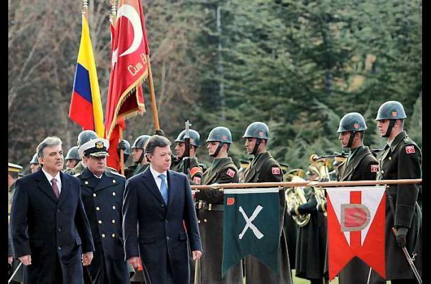 Juan Manuel Santos y Abdullah Güll