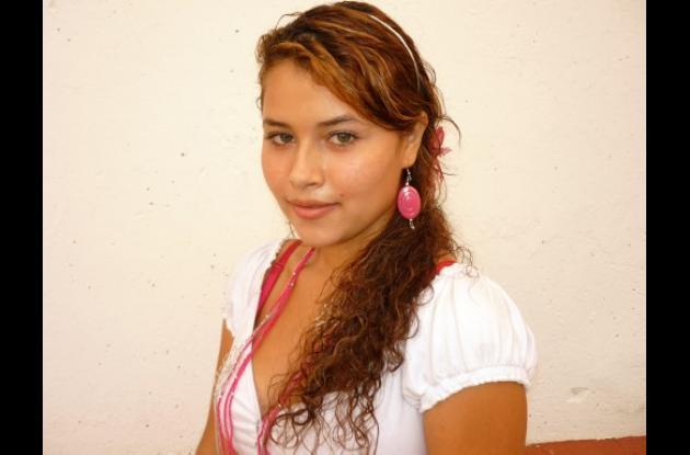 Dori Luz García Salgado, reina del barrio 12 de Noviembre.