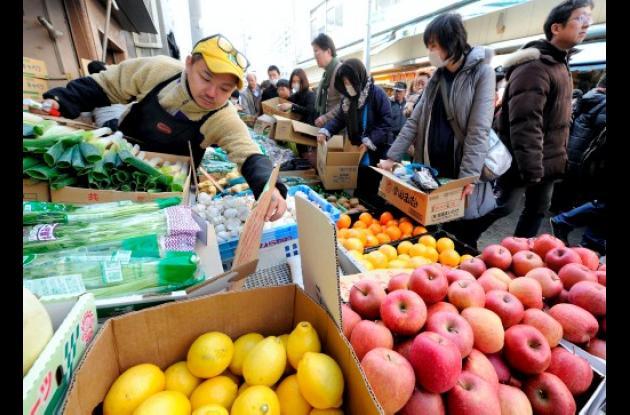 Frutas con radiactividad en Japón