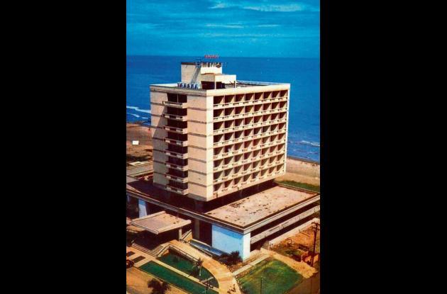 1972: Hotel Americano en Bocagrande.