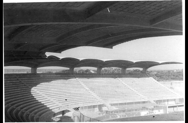 El estadio de béisbol por dentro en 1948.