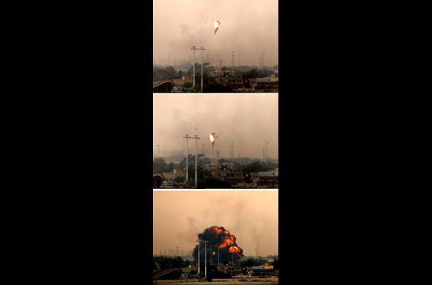 Avión abatido en Libia