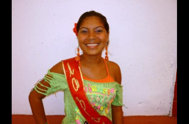 Luz Mary Romero Torres, reina del barrio Mateo Gómez.