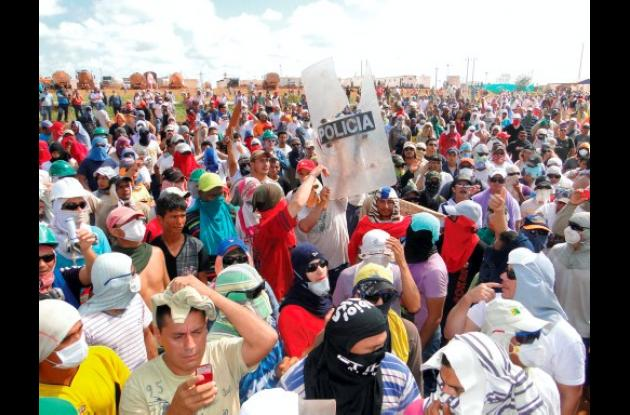 Protesta violenta en Puerto Gaitán, Meta
