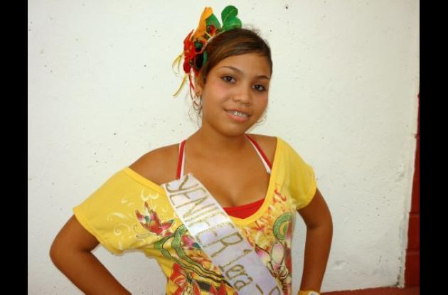 Jennifer Paola Montero Chamorro, reina del barrio Las Palmas.