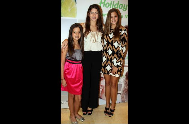 Sophia Puente, Gabriela Puente y Mari Lia Puente.