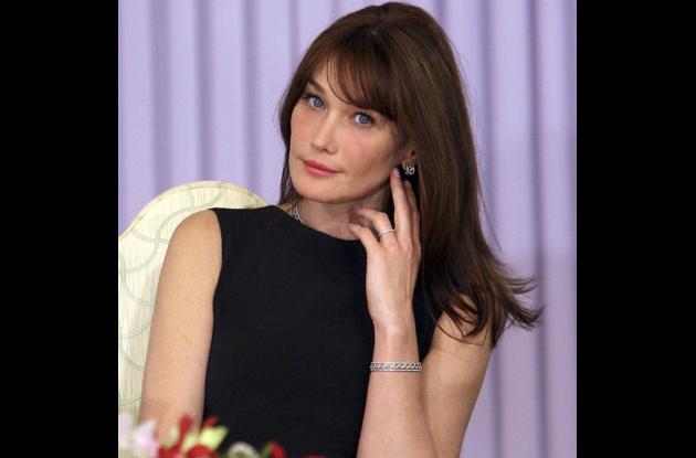 Carla Bruni,  la esposa el presidente francés Nicolás Sarkozy