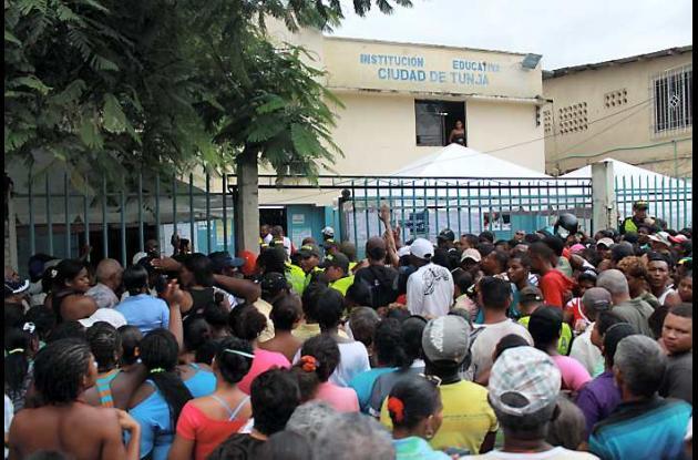 Puesto de votación colegio Ciudad de Tunja